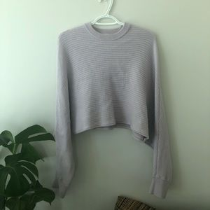 Wilfred Free lilac cropped sweater
